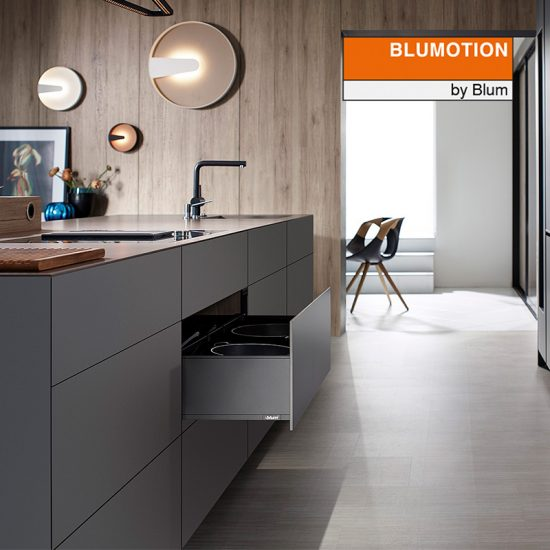 Szuflada LEGRABOX Blumotion BLUM antracyt