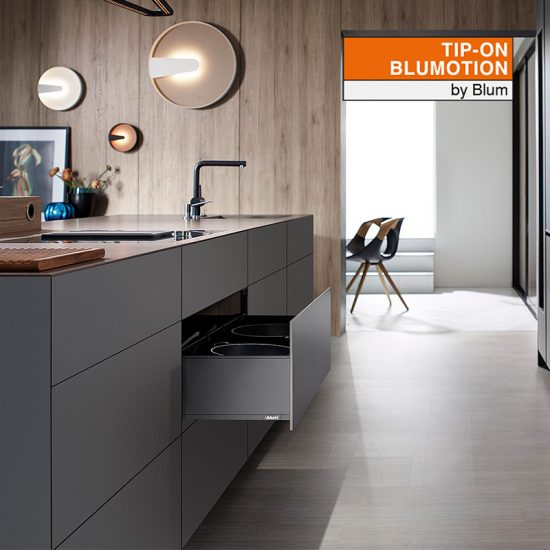 Szuflada LEGRABOX Tip-on Blumotion BLUM antracyt